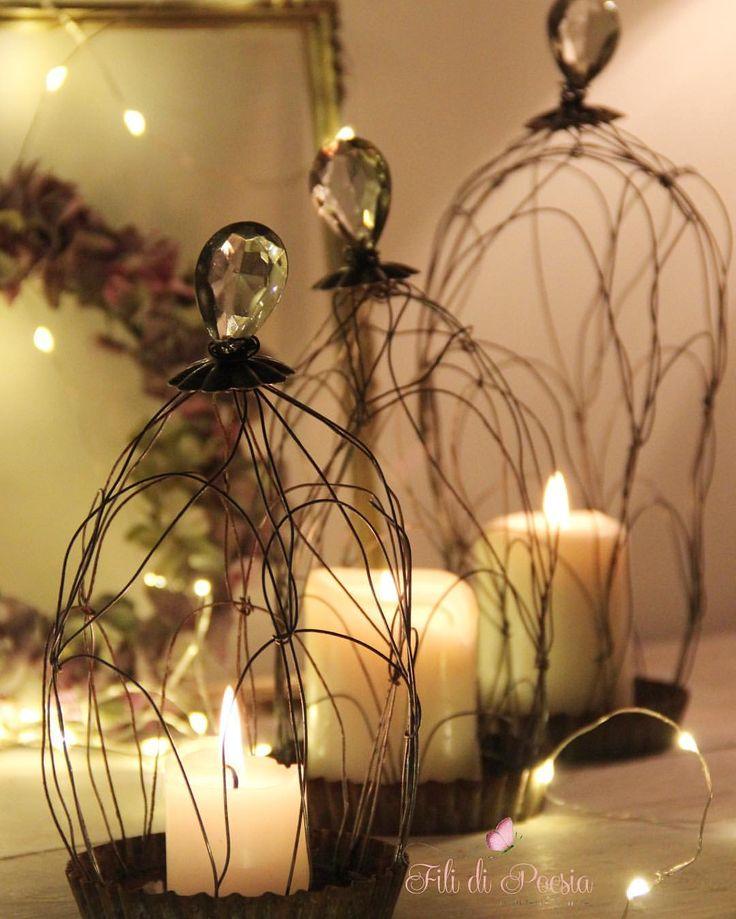 """""""Mi piace"""": 383, commenti: 26 - Daniela Corti•Wire & Textile (@filidipoesia) su Instagram: """"Luci e candele #christmasmood on Una giornata letteralmente volata via tra impegni e lavori da…"""""""
