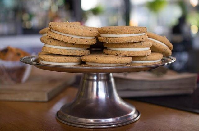 LEMON MYRTLE /. Visit our friends @gramercy.social for our Lemon Myrtle cookies to go with your coffee!.  @gramercy.social. . #littlebertha #littleberthastockist #gramercysocial #lemonmyrtle #cookies