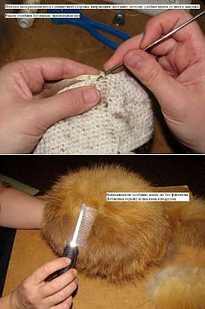 Вязание из меха - Клуб Сезон