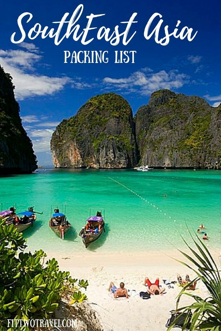 Southeast Asia packing list. How to pack for one month in a backpack through Asia fittwotravel.com