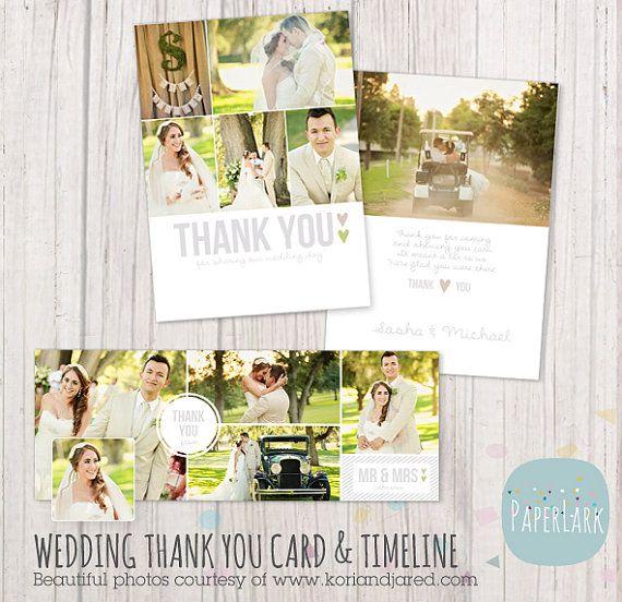 Hochzeit Dankeskarte und Facebook Timeline zu von PaperLarkDesigns