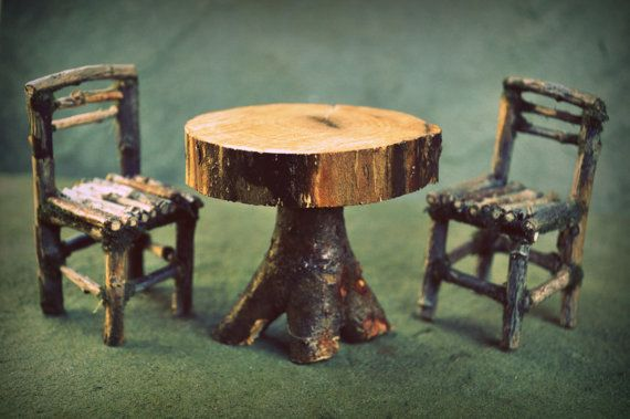 fairy garden kitchen table and chairs