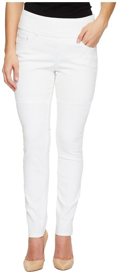 Jag Jeans Petite Petite Nora Pull-On Skinny in White Denim