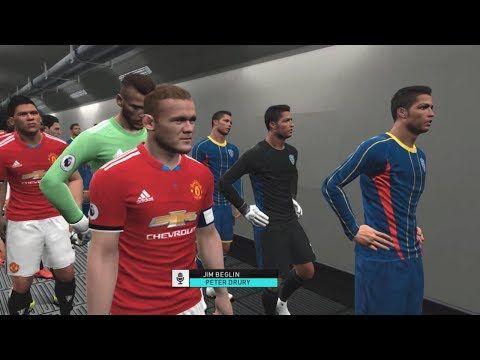 PES 2018   Team C Ronaldo vs Manchester United   Full Match Gameplay