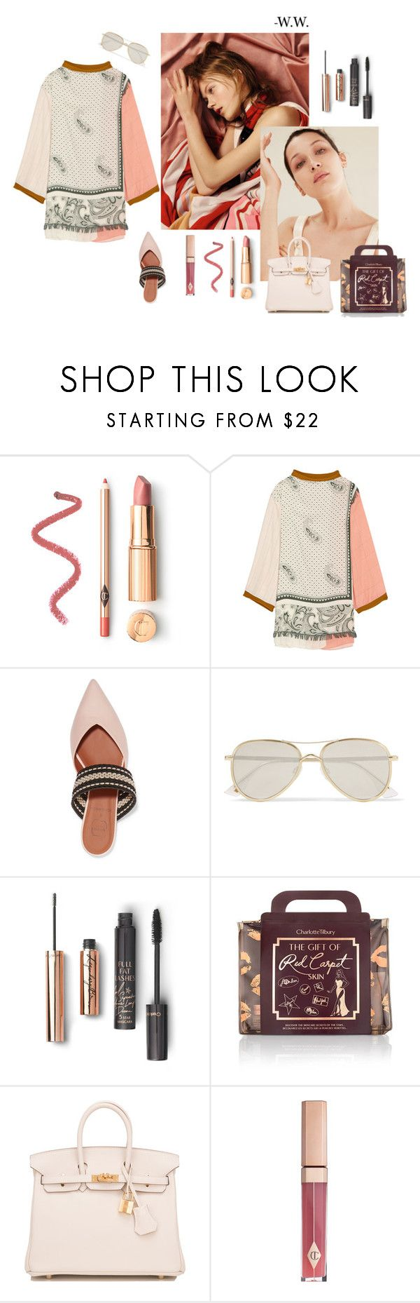 """""""A Step Ahead"""" by wednesday-williams ❤ liked on Polyvore featuring Acne Studios, Malone Souliers, Le Specs, Hermès, StreetStyle, hermes, acnestudios, Charlottetilbury and Spring2017"""