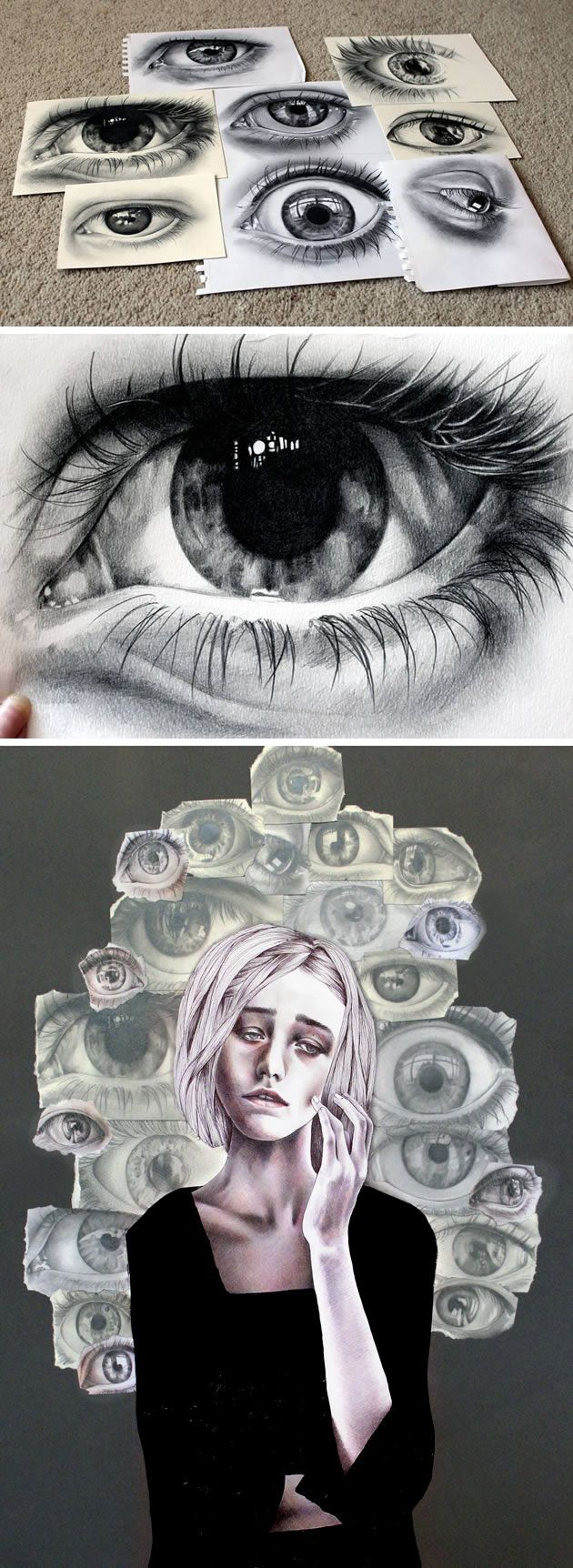 Drawing eyes by Kate Powell