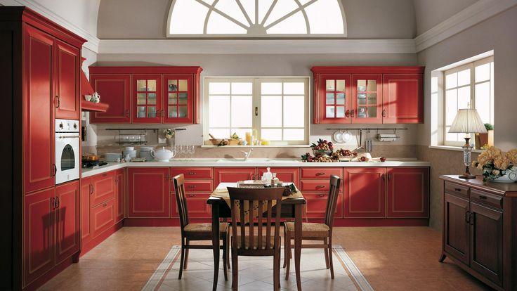 Lube Cucine. Eccone una classica e bella rossa :) #Lube #Cucine #Rosso