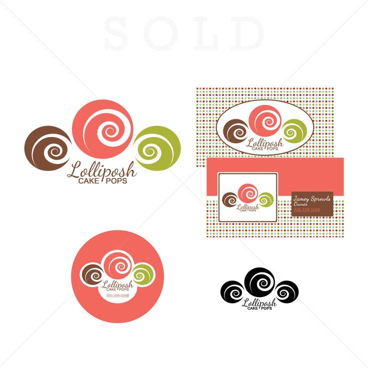 Lolliposh Cake Pops   Cupcake logo designs