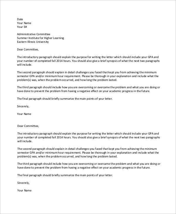 College Suspension Appeal Letter Sample Unique 14 Appeal Letter Samples Pdf Word Professional Reference Letter Lettering Letter Sample