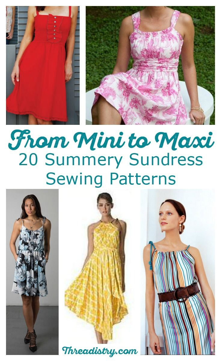 From maxi to mini, find the perfect summer sundress sewing pattern with this fun…