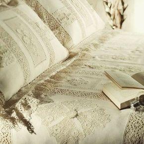 Винтаж#постельноебелье #красиво #спальня #кружево #наволочки