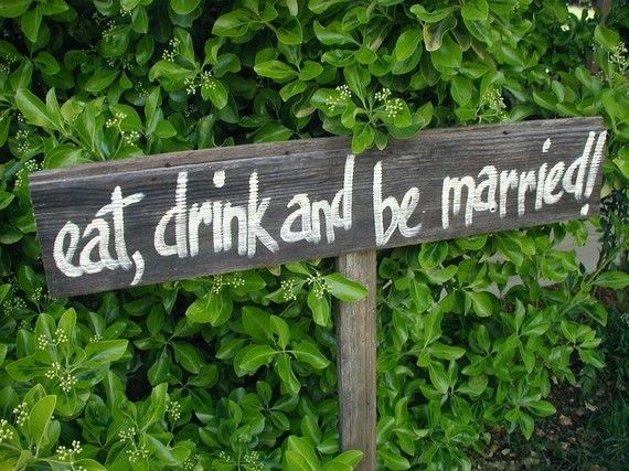 cute wedding signpost
