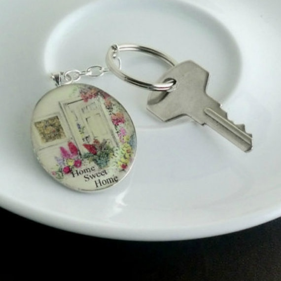 Home Sweet Home Resin Keyring £5.50