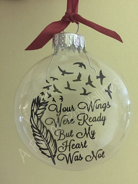 Good Christmas Ornaments For Lost Loved Ones Part - 5: Your Wings Floating Memorial Ornament By SassyClassySouthern More