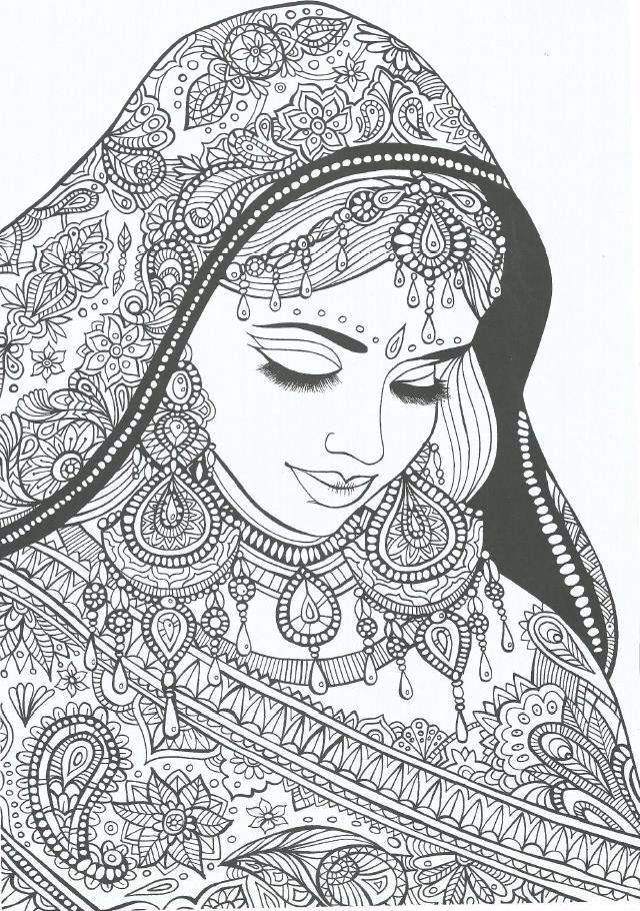 indian colouring page