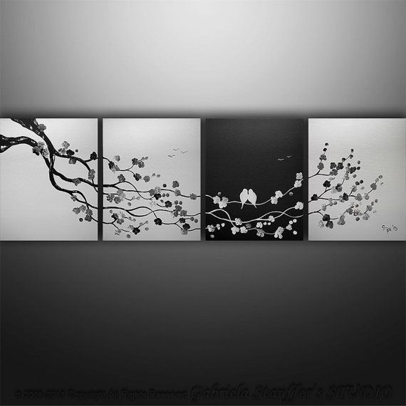 3 Piece Purple Cherry Blossom Muti Panel Abstract Modern: 1000+ Images About Art Multi Panel On Pinterest