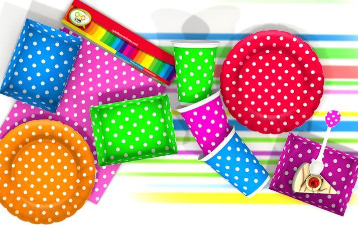 todo para una fiesta muy moderna y simple, polka; un toque muy bonito para tu evento