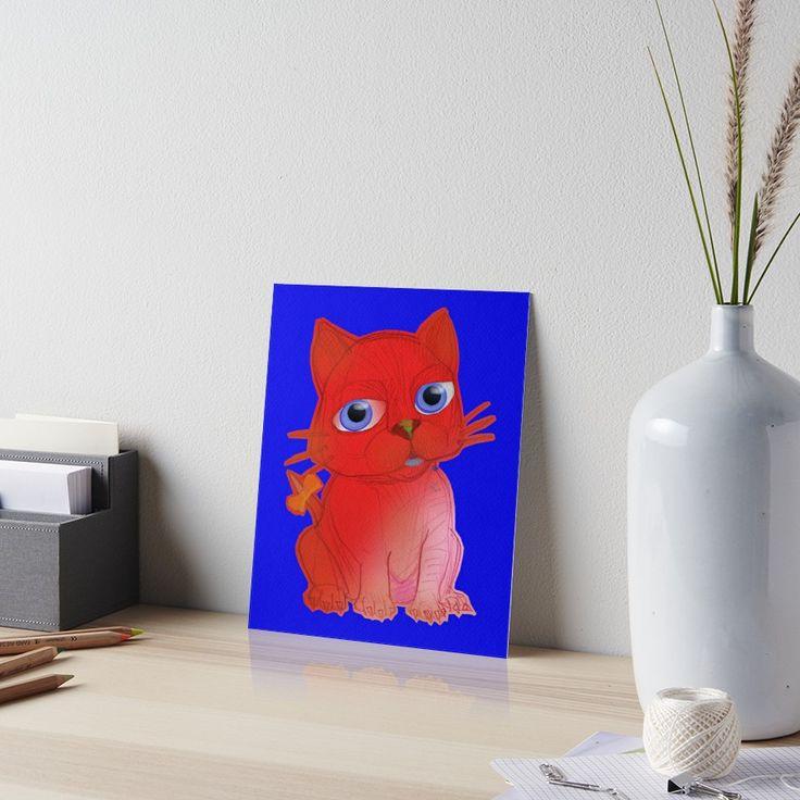 Buy 'My RED Vanda Cat PetOriginal Ink Hand Drawing by Alice Iordache' by VanyssaGraphics as a T-Shirt, Classic T-Shirt, Tri-blend T-Shirt, Lightweight Hoodie, Women's Fitted Scoop T-Shirt, Women's Fitted V-Neck T-Shirt, Women's Relaxed Fit...
