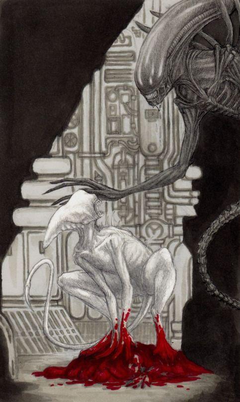 Alien: Covenant doodle : Neomorph meets Xenomorph…
