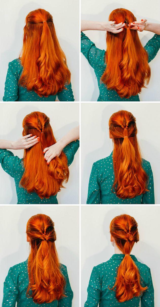 Romantic triple twist ponytail