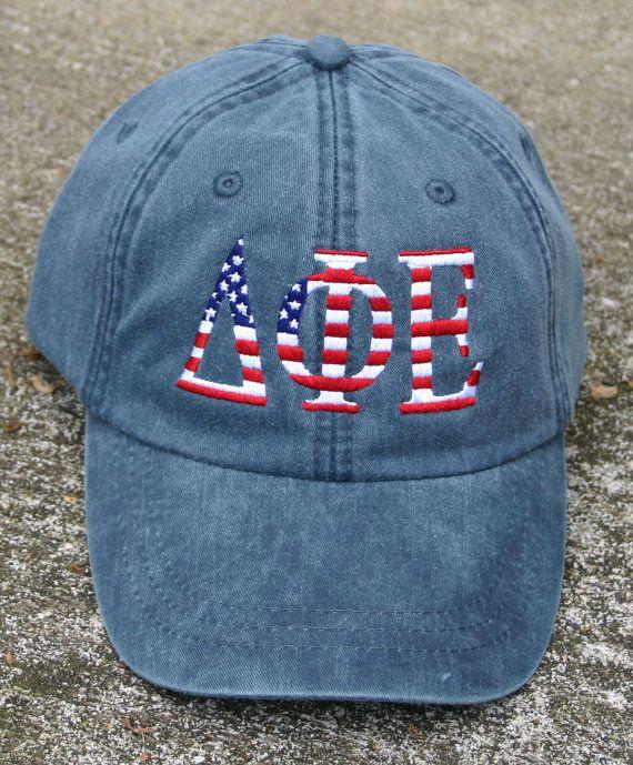 Delta Phi Epsilon American Flag Cap by MegaGreek on Etsy