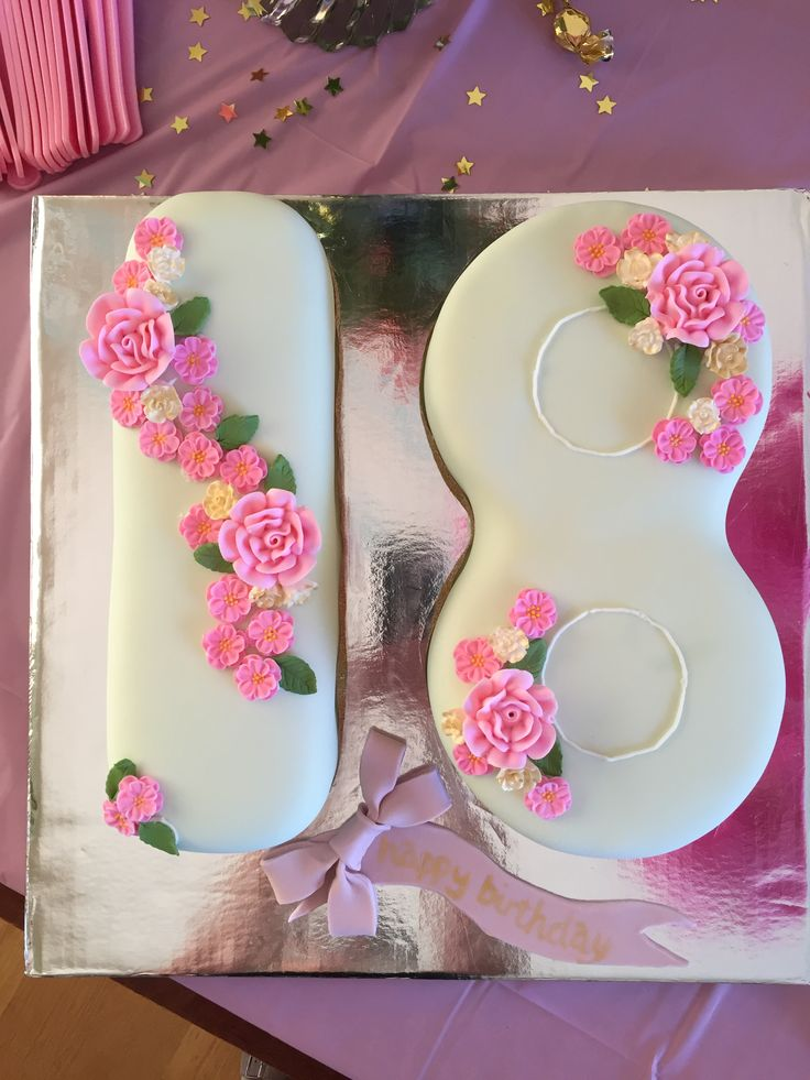 1000 Images About Number Eighteen Cake Designs On