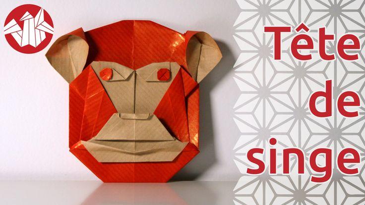 Bonjour à tous ! Pour le premier origami de 2016, année du singe de feu dans le calendrier chinois, nous vous proposons de plier cette tête de singe de Robin...