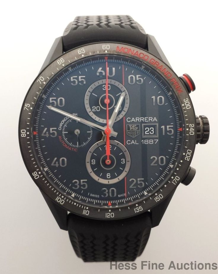 Tag Heuer Monaco Ltd Ed Cal 1887 Red Black CAR2A83 Mens Watch Limited Edition #TagHeuer