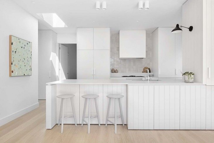 White House | Clare Cousins Architects | all white kitchen