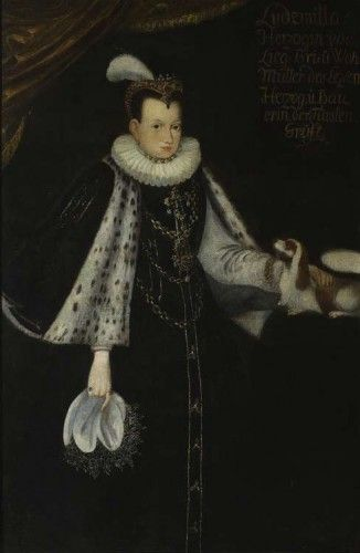 "Unknown painter. ""Portrait of Anna Radziwill née Kettler"", after 1583, oil on canvas, 156 x 103 cm, National Museum, Warsaw"