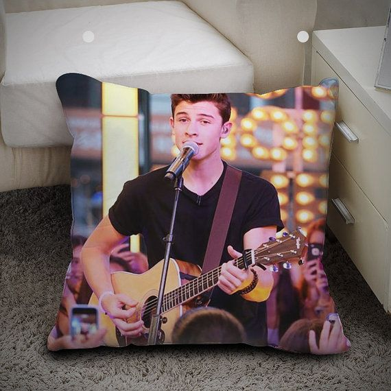 Shawn Mendes Playing Guitar - Pillow Case Polyester 16x16 and 18x18 one side / two sides