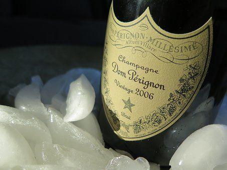 Champagne, Wine, Etiquette, Ice