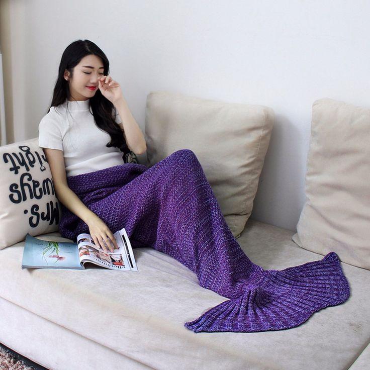 Mermaid Tail Crochet Blanket For Mom