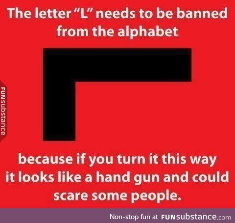"""Ban letter """"L""""  Then how could we old Timers play Tetris?"""