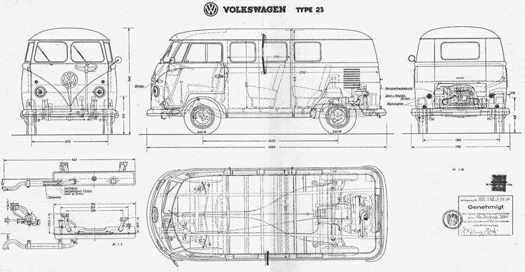volkswagen type 2 t1 blueprint