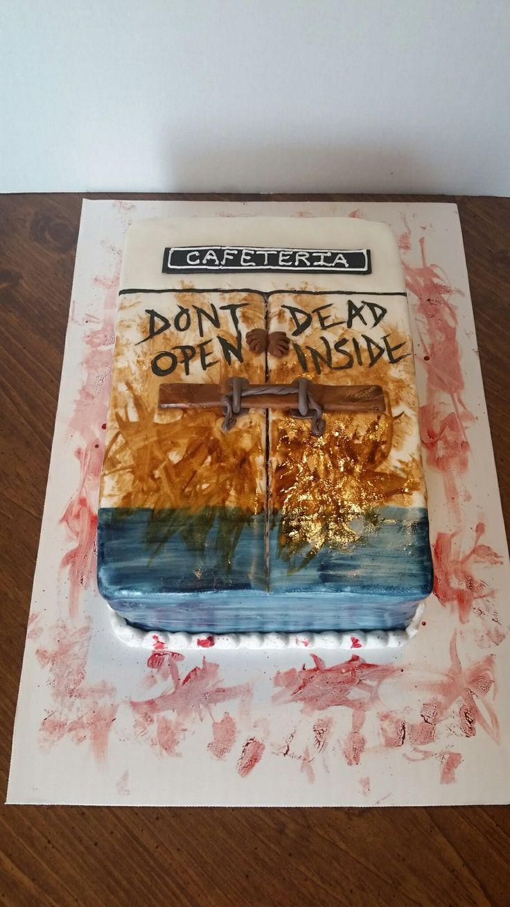 Wa walking dead pumpkin stencil - Walking Dead Cake