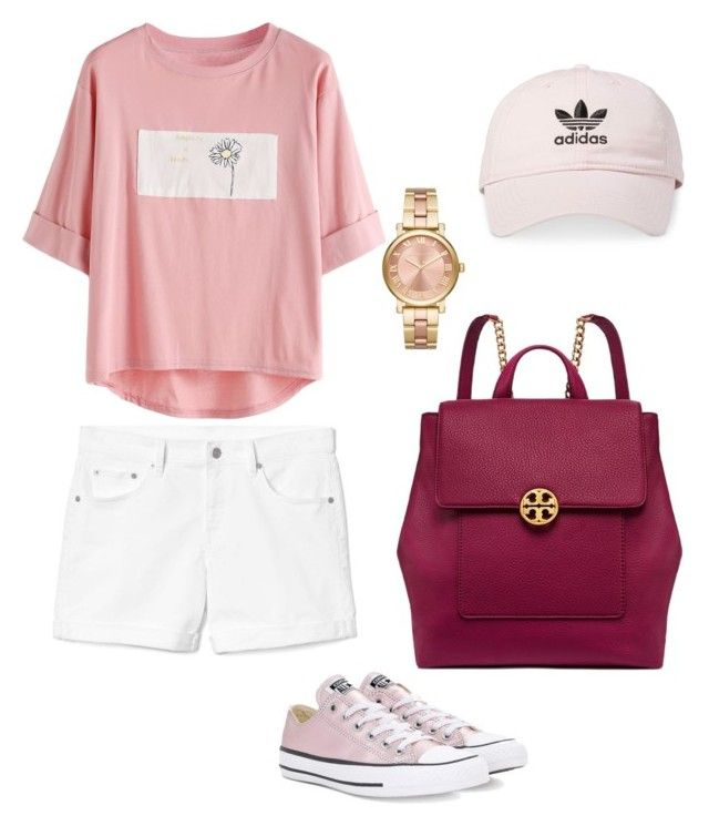 """""""Casual Sporty"""" by pitaa29 on Polyvore featuring Gap, Converse, Tory Burch, MICHAEL Michael Kors and adidas"""