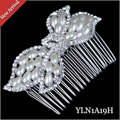 12pcs/lot crystal bow hair Comb Wholesale 2017 New Fashion Bridal  Hair Accessories,Wedding hair Jewelry