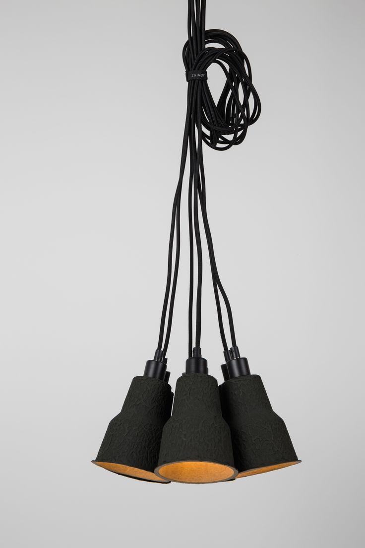 7 tienidiel, čierne z vonka, prírodné zvnútra 200 cm čierny PVC kábel Svetelný zdroj: 7x E14, max. 15 watt regular bulb, max. 3 watt savings, max. 1 watt LED Energetická trieda: A++ – E (Energylabel 1)