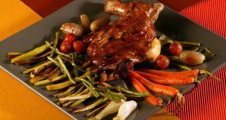 Receta de Paletilla de cordero con verduras confitadas