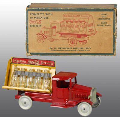 Coca-Cola Collectibles Price Guide: Pressed Steel Metalcraft Coca-Cola Truck with Box