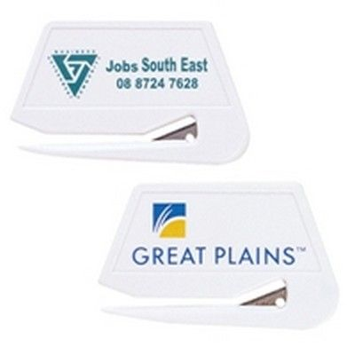 White Presto Letter Slitter Min 250 - Corporate Gifts - Automotive & Tools - GO-7301s - Best Value Promotional items including Promotional Merchandise, Printed T shirts, Promotional Mugs, Promotional Clothing and Corporate Gifts from PROMOSXCHAGE - Melbourne, Sydney, Brisbane - Call 1800 PROMOS (776 667)