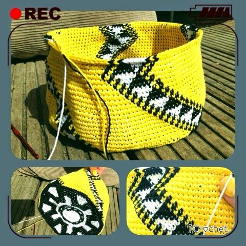 iCrochetstuff: Tapestry Mochila Wayuu handbag haken met patroon - work in progress. Graph