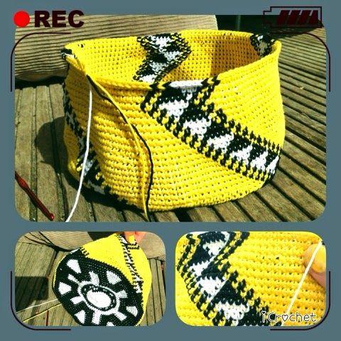 iCrochetstuff: Tapestry Mochila Wayuu handbag haken met patroon - work in progress