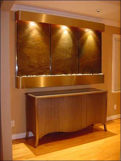 Modern Wall Fountains for Tranquil Interior Decorating and Home Staging
