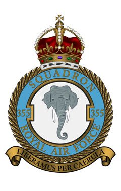 Royal Air Force - 355 Squadron My fathers squadron which operated from RAF Bases in India 1943 to 1946