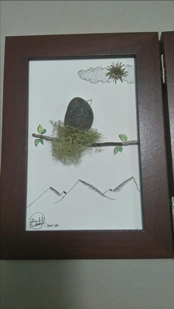 Pebble Art,  nido