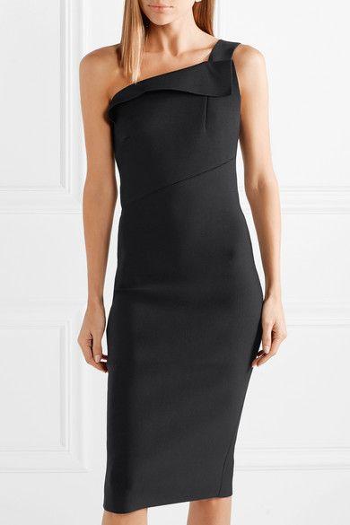 21fb5acf935 Roland Mouret - Hepburn one-shoulder stretch-knit dress