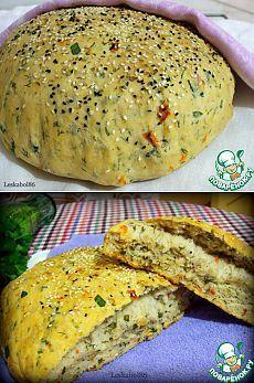Хлеб с помидорами и зеленью - кулинарный рецепт