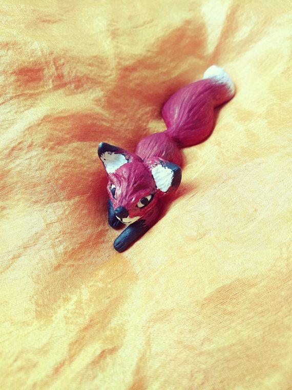 Little Fox Handmade Polymer Clay Pendant